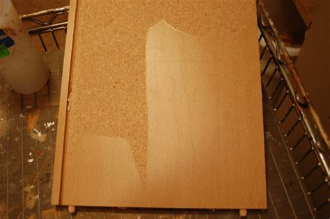 can you paint particle board kitchen cabinets peeling particle board covering fabulously finished 9797