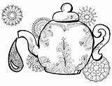 Coloring Tea Pages Teapot Alice Wonderland Adult Colouring Printable Drawing Adults Template Finland Kettle Clip Getcolorings Books Getdrawings Easy Sketch sketch template