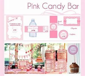 Décoration D Anniversaire : pink candy bar d coration d 39 anniversaire imprimable ~ Dode.kayakingforconservation.com Idées de Décoration