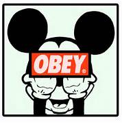 Obey Mickey Mouse Middle Finger