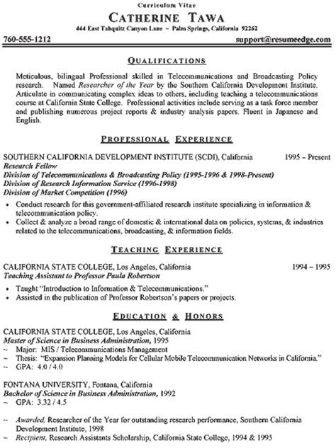 Curriculum Vitae Format For by How To Write A Curriculum Vitae Cv Format Sles