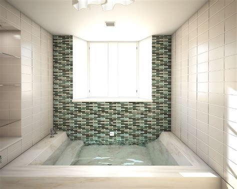 open shower stall open sunken shower stall with integrated step down tub bathroom ideas pinterest tub shower