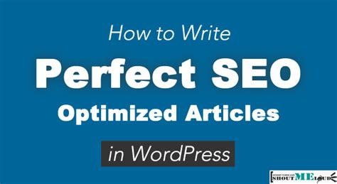 Seo Articles - how to write seo optimized articles in