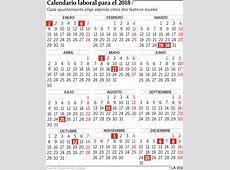 Calendario laboral 2018 Download 2019 Calendar Printable