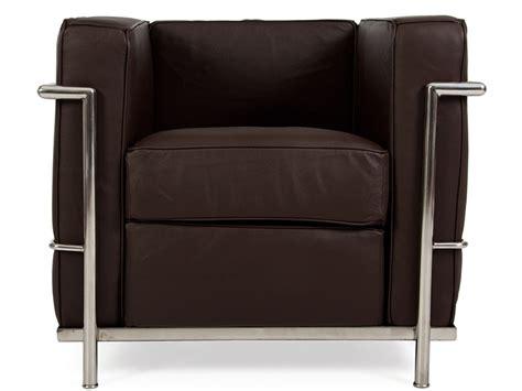 lc2 fauteuil le corbusier marron