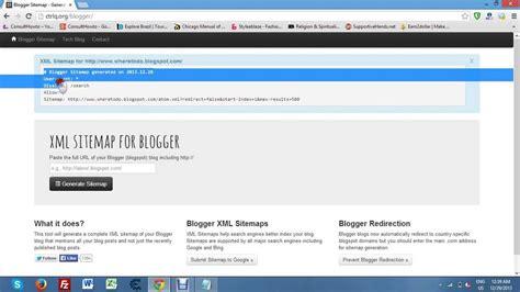 How Get Xml Sitemap For Blogger Youtube