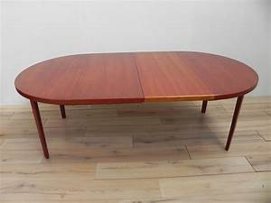 Table Ronde Extensible Design : table ronde extensible en teck henning kjaernulf 1960 design market ~ Teatrodelosmanantiales.com Idées de Décoration