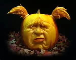 Girl Pumpkin Carving
