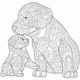 Coloring Husky Dog Doberman Cat Printable Adults Dogs Getcolorings Getdrawings Colorings sketch template