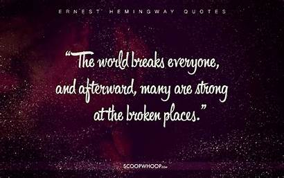 Hemingway Quotes Ernest Profound Cheat Scoopwhoop Happier