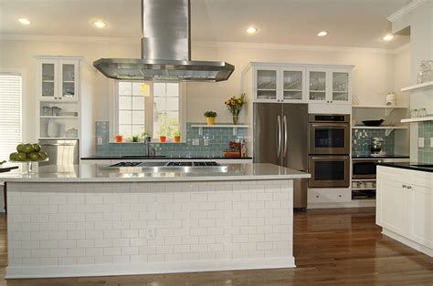 tiled kitchen island glass subway tile backsplash kitchen transitional with 2789