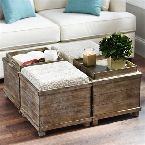 how to make a storage ottoman taupe cream reversible tabletop storage ottoman