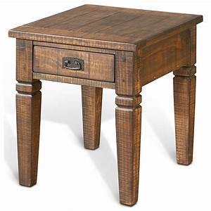 Sunny designs homestead 3252tl e rustic pine end table w for Homestead furniture and appliances