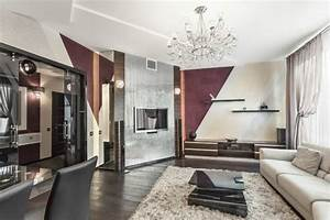 Schräge Wände Gestalten : 30 wohnzimmerw nde ideen streichen und modern gestalten ~ Sanjose-hotels-ca.com Haus und Dekorationen