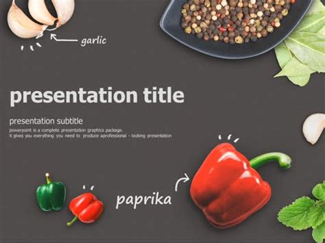 food powerpoint template food animated powerpoint template