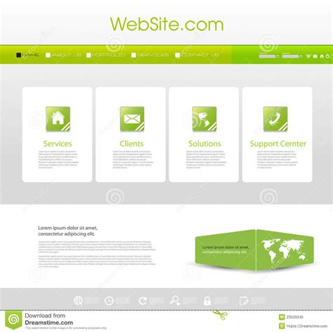 website menu template royalty  stock photo image