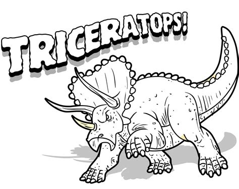 printable triceratops coloring pages  kids