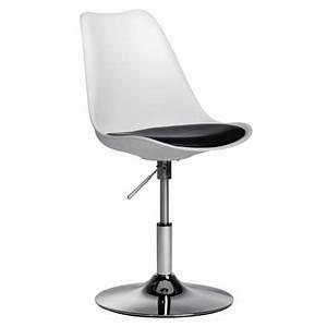 chaise de bureau blanche pied tulipe Achat / Vente