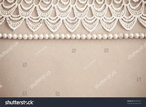 Lace Pearls Vintage Background Stock Photo 96793372 ...