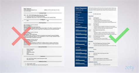 civil engineering resume sample  complete guide