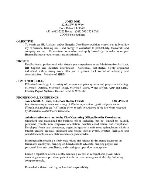 hr resume examples  examples