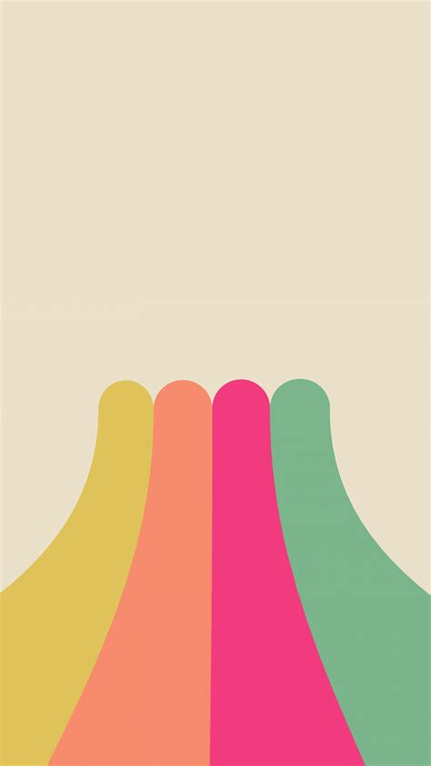 rainbow simple minimal abstract pattern android wallpaper