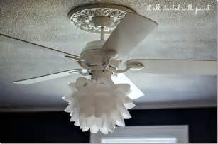 White Ceiling Fan with Light Kit