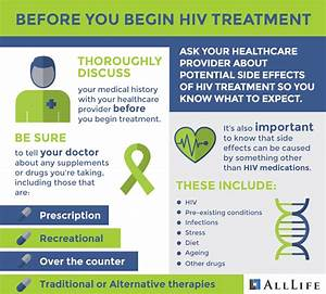 Learn the side effects of taking HIV medication