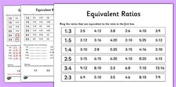 multiplication by 6 worksheets equivalent ratios activity sheet equivalent ratios activity