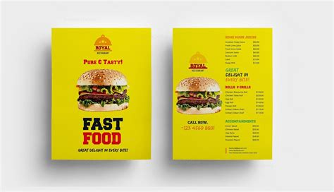 fast food cuisine fast food restaurant menu template 000313 template catalog