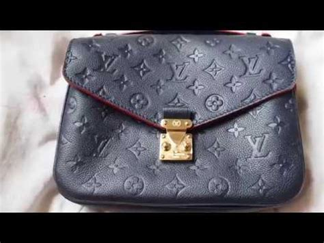 louis vuitton unboxing  pochette metis  empreinte youtube