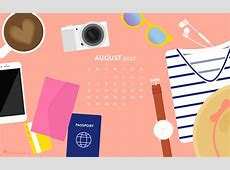 August 2017 Travel Calendar Wallpaper Sarah Hearts