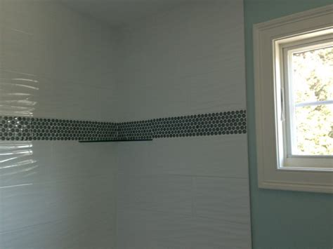 mediterranean home interior white wave tile with border transitional boston by