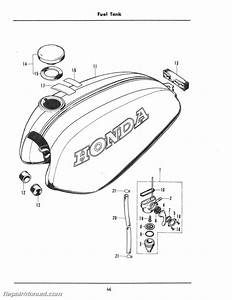 1974 Honda Xl100k Motorcycle Parts Manual