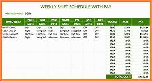 Project Assignment Template 14 Employee Shift Schedule Template Excel Excel