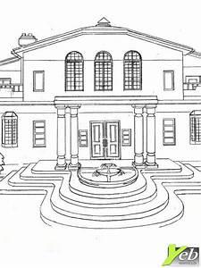 31 dessins de coloriage maison a imprimer With dessin de belle maison