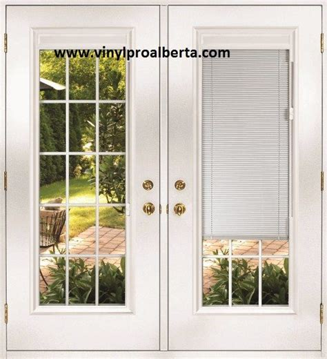 french doors exterior  built  blinds french doors
