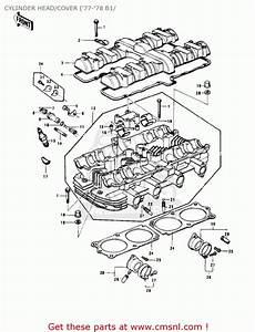 Kawasaki Kz1000b1 Kz1000 Ltd 1977 Usa Canada Cylinder Head