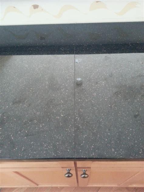 ugly seams  black galaxy countertops
