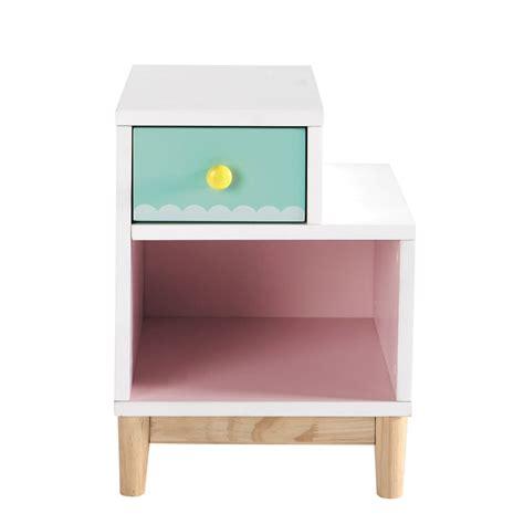 kinder nachttisch aus holz b 40 cm rosa berlingot maisons du monde