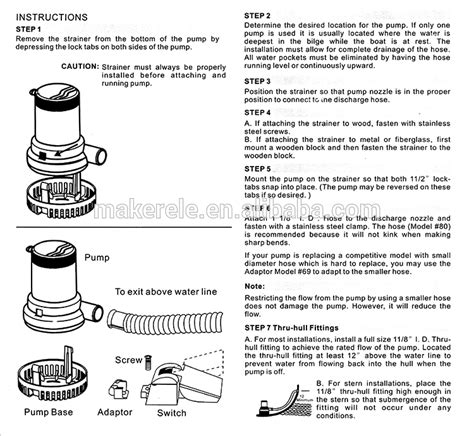 rule bilge pump wiring diagram wiring diagram and