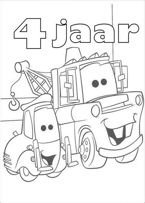 Kleurplaat Cars 70 Jaar by Kleurplaten En Zo 187 Kleurplaten Cars Verjaardag