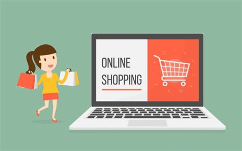 Online Shopping With Woman Character Vector  Free Download