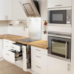 Meuble De Cuisine Blanc Laqué : meuble de cuisine blanc delinia rio leroy merlin ~ Teatrodelosmanantiales.com Idées de Décoration