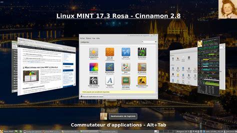 bureau cinnamon linux mint 17 3 rosa bureau cinnamon 2 8 linux