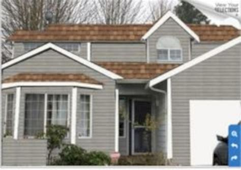 46 exterior paint colors for house with brown roof matchness