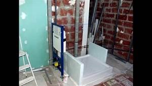 Salle De Bain Cosy : construction d 39 une salle de bains youtube ~ Dailycaller-alerts.com Idées de Décoration