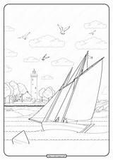 Coloring Printable Sailboat Pdf Joy Whatsapp Tweet sketch template
