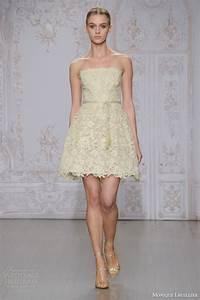 monique lhuillier fall 2015 wedding dresses wedding With short gold wedding dresses