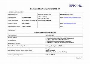 business plan template uk free free business template With free buisness plan template